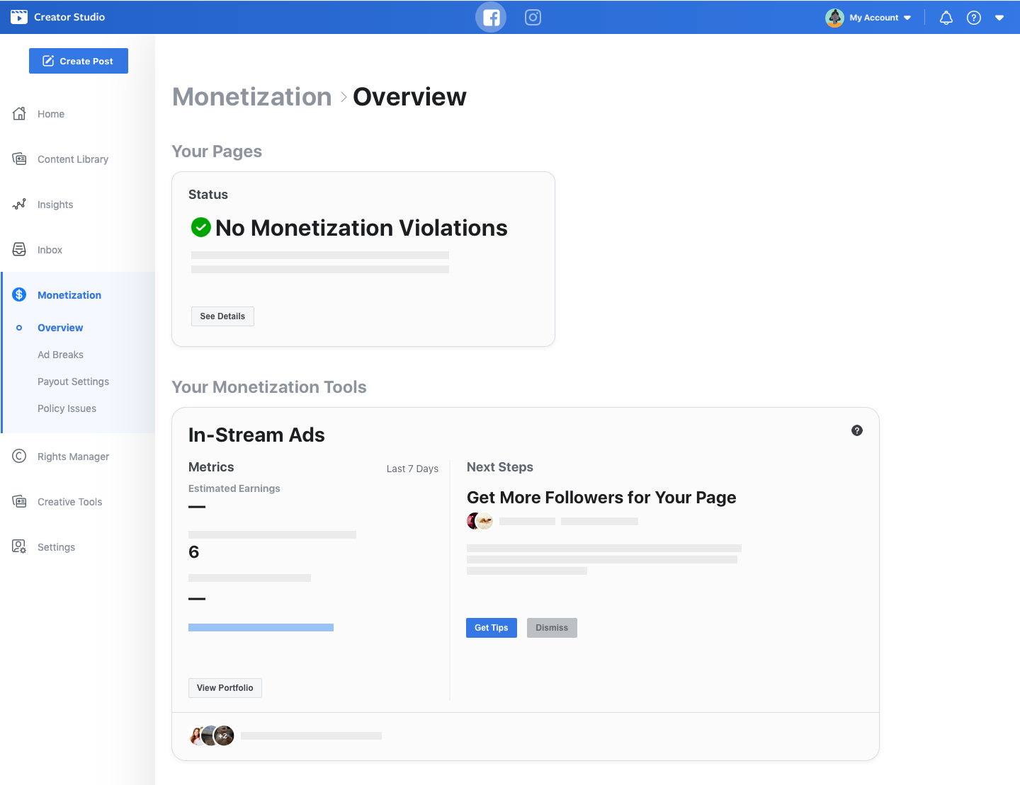 How to enable monetization on facebook live